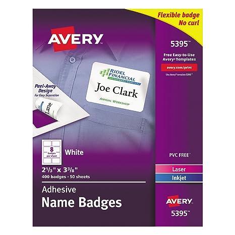 Amazon Avery Premium Personalized Name Tags Print Or Write 2