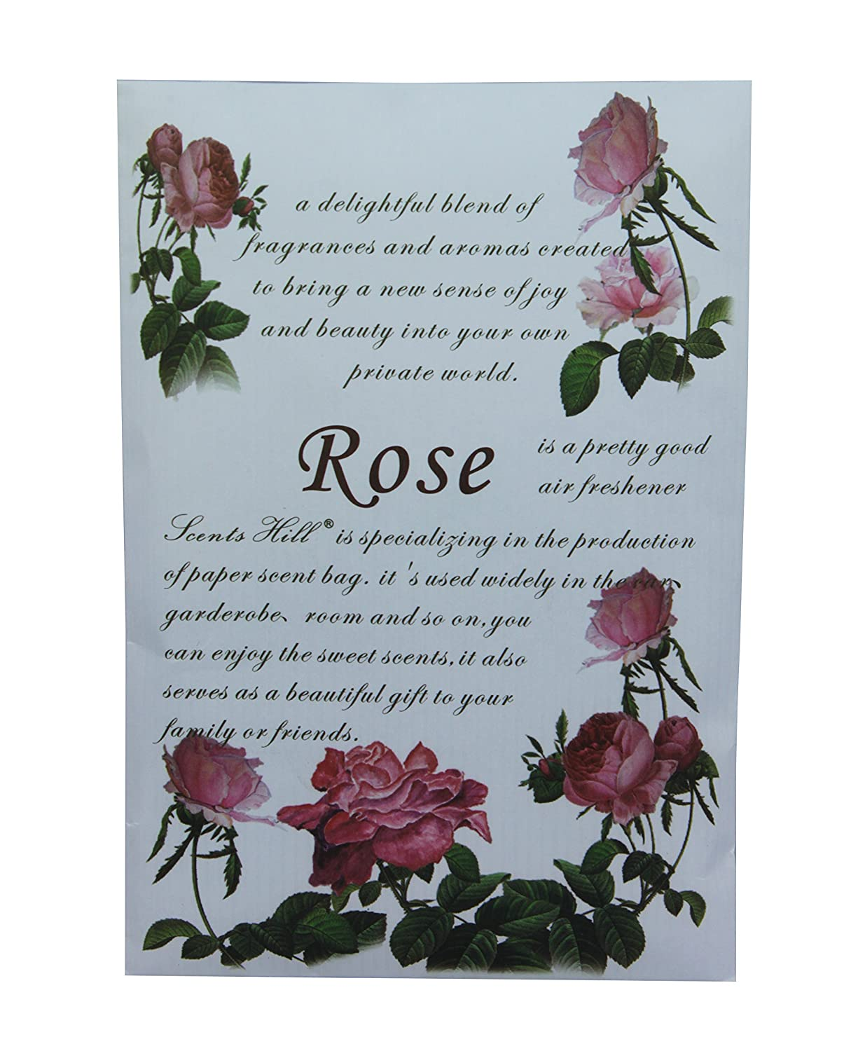 Scented Sachet for Drawer and Closet, Lot of 8 (Rose)