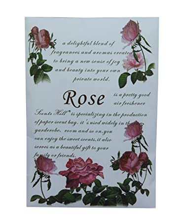 Beau Scents Hill Scented Sachet For Drawer And Closet, Lot Of 8 (Rose)