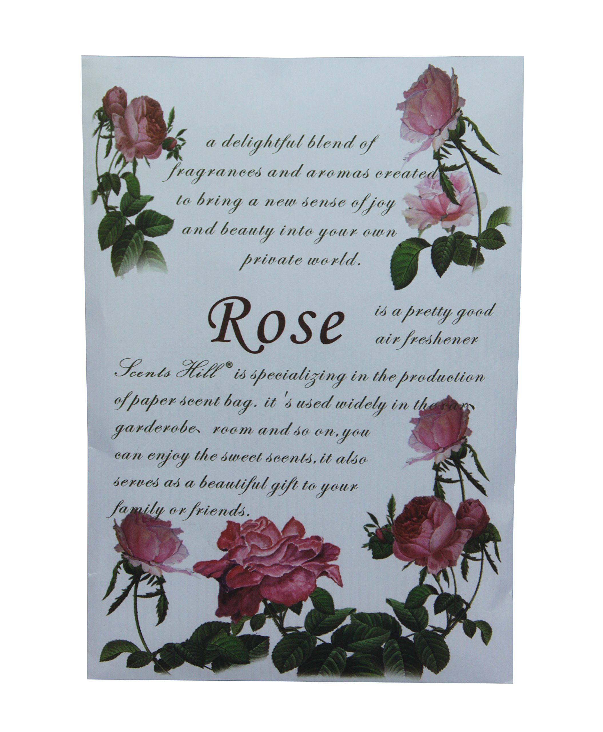 Feel Fragrance Scented Sachet for Drawer and Closet,Lot of 4 (Rose)