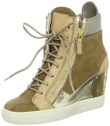 6d524c32183 Amazon.com  Giuseppe Zanotti Women s Side Zip Metallic Fashion ...