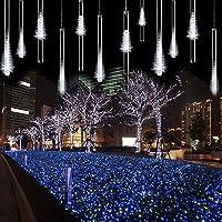 ZCplus Meteor Shower String 144 LEDs Snow Falling Raindrop Cascading Light