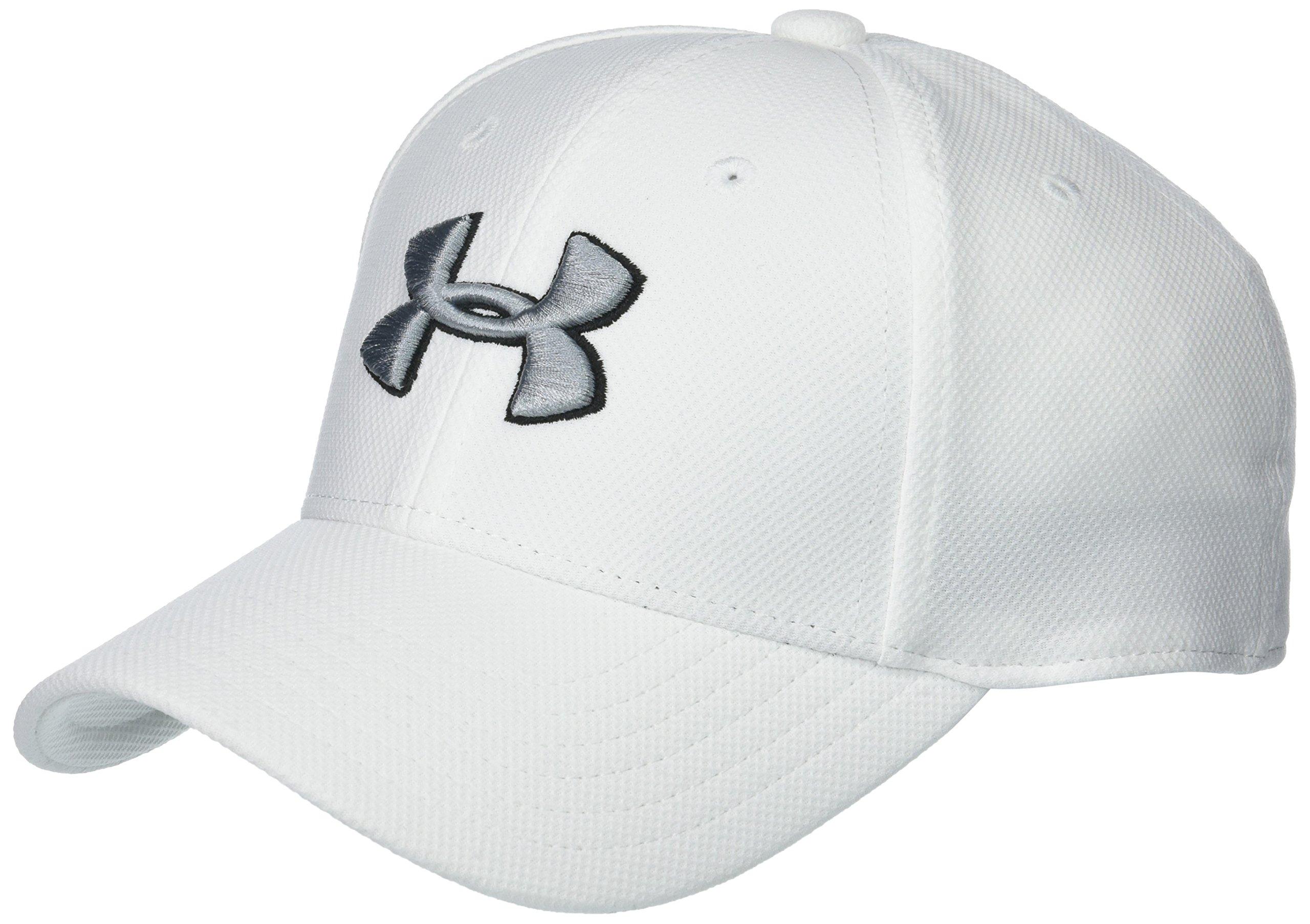 Under Armour Little Boys' Baseball Hat, White 1, 4-6