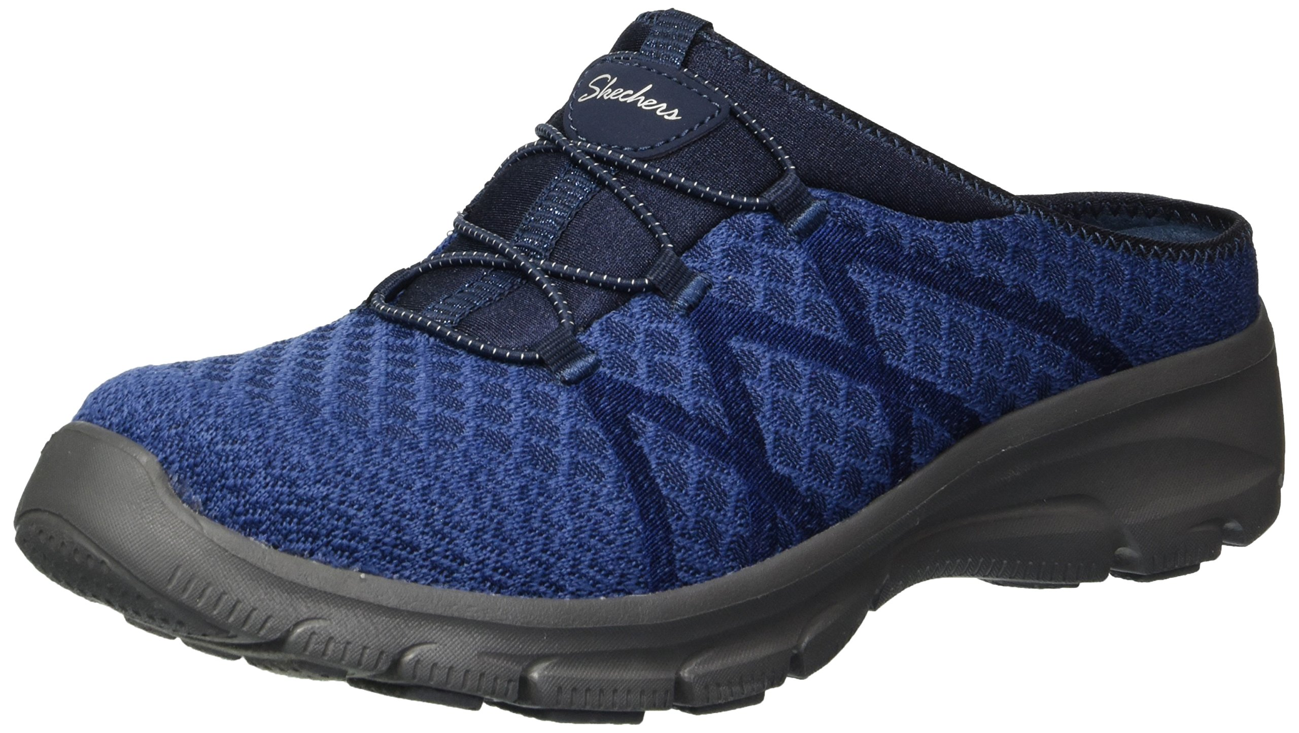 Skechers Women's Knitty Gritty-Knit Bungee Version of The Easy Going-Repute Mule, Navy, 8 M US