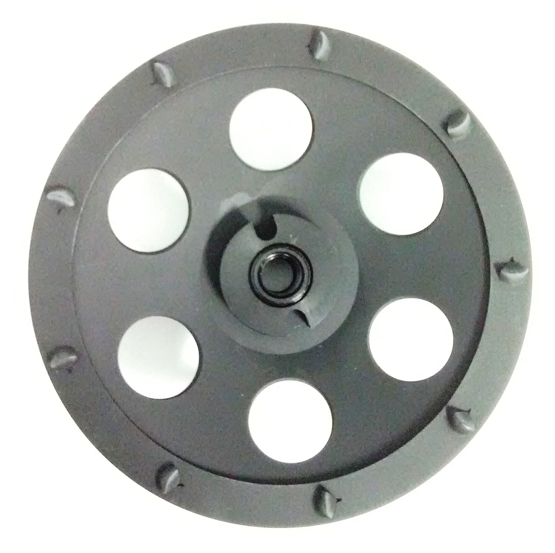5-Inch PCD Cup Wheel Grinder 5/8''-11 Threaded - 8 Segments - Poly Crystaline Cup for Removing Epoxy, Glue, Paint and Mastic