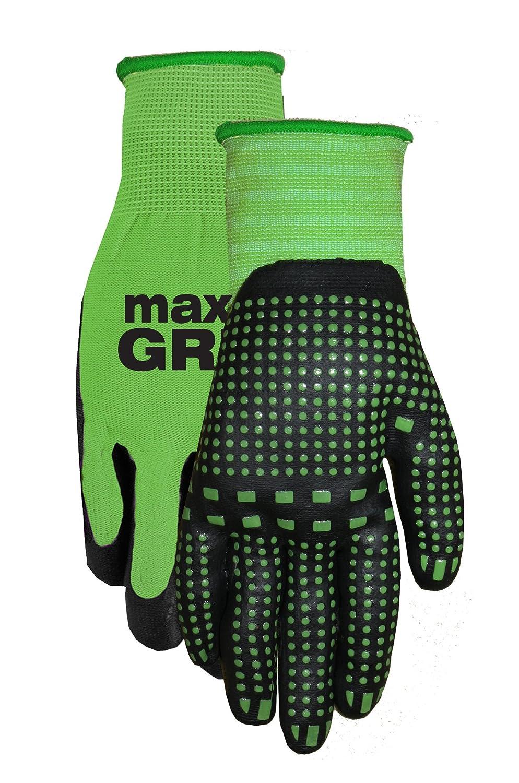 Midwest Gloves & Gear 93-L-AZ-12 Max Grip, Single Pair Ladies Green