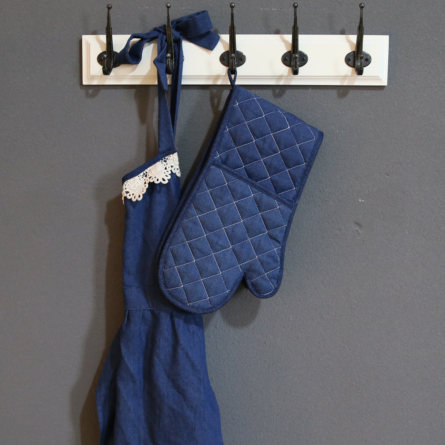 Solid Skyway Blue XinDaSheng Arts CO NEOVIVA Quilted Retro Denim Jeans Place Mat for Dining with Pocket HangZhou LTD.