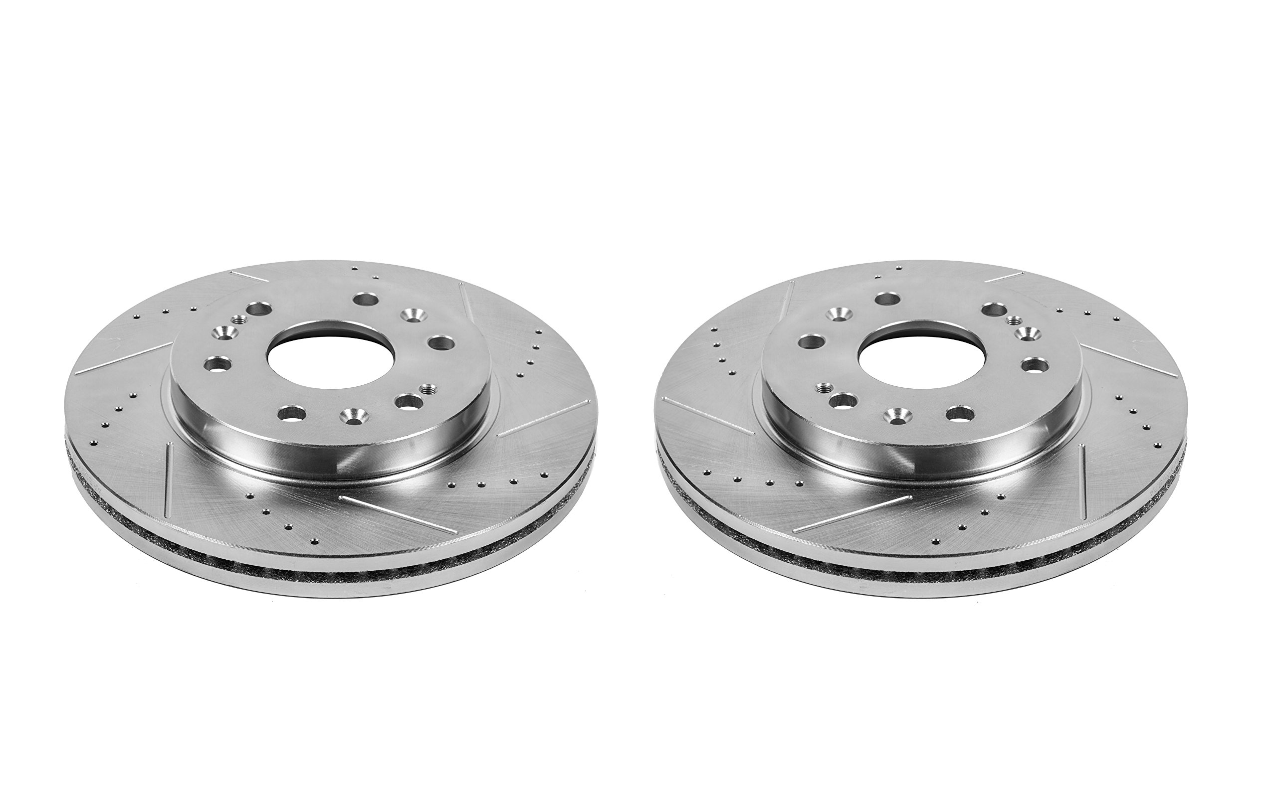 Power Stop AR8654XPR Front Evolution Drilled & Slotted Rotor Pair
