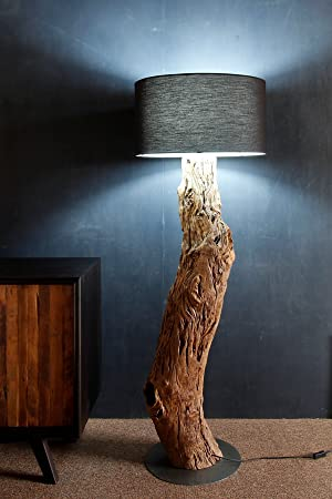 Möbel Bressmer Standlampe Holzstamm Kenyon Aus Recyceltem Holz