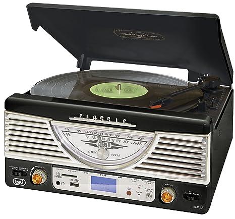 Trevi TT1062E clásico Retro con tocadiscos MP3 ...
