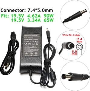90W/65W 19.5V 4.62A Power Adapter Charger for Dell Vostro 14 15 1000 1014 1015 1220 1310 1400 1440 1500 1510 1520 1540 1700 1710 1720 2510 2520 3300 3360 3450 3458 3460 3500 3550 3558 3560 3700 3750