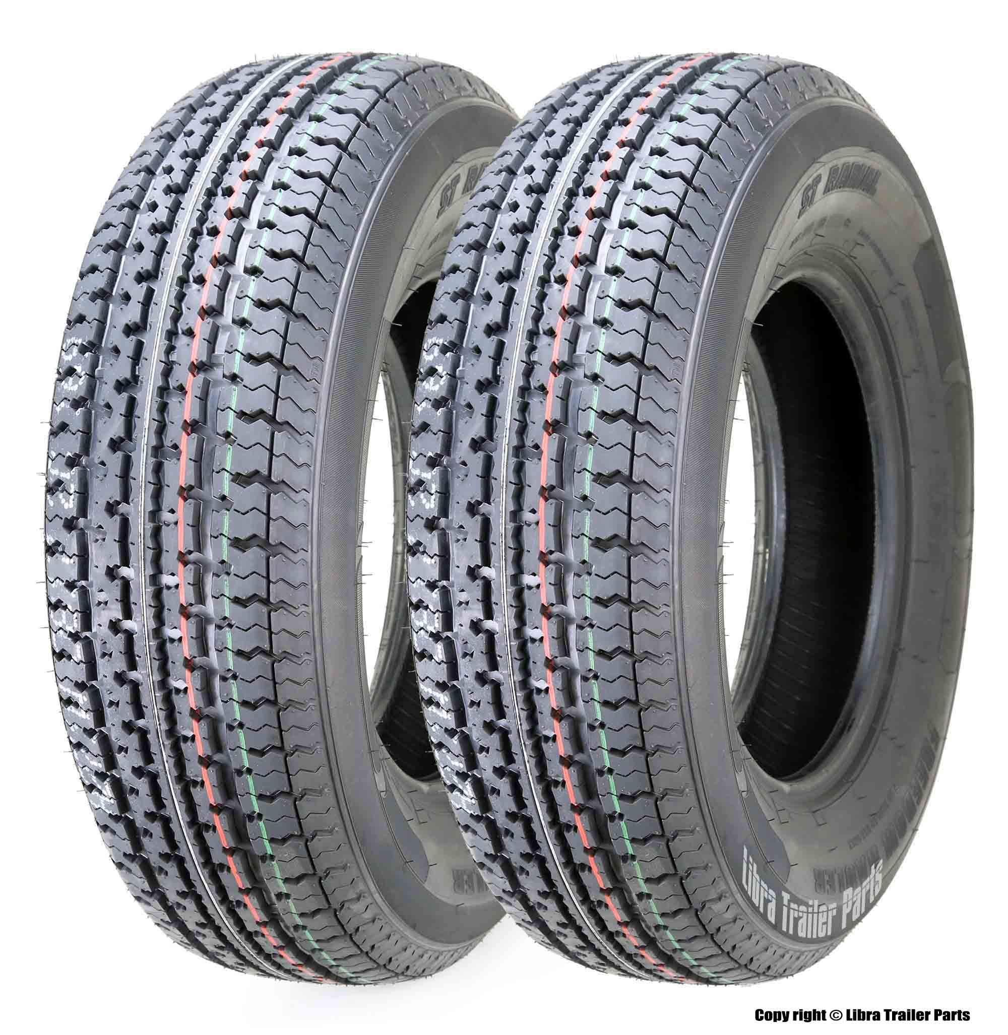 2 New Premium Freedom Hauler Trailer Tires ST 215/75R14 8PR Load Range D Steel Belted Radial by Grand Ride