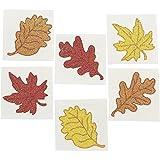 Leaf Glitter Tattoos - 6 Dozen - Fall, Autumn or Thanksgiving Theme Party Supplies!
