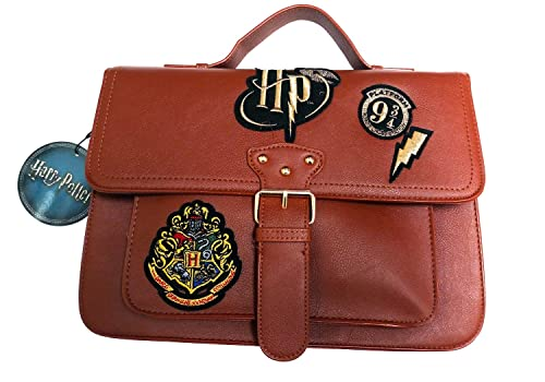 Primark Ladies girls HARRY POTTER HOGWARTS SCHOOL BAG SATCHEL GYM TRAVEL PURSE (canela): Amazon.es: Zapatos y complementos