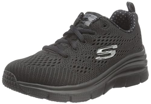 022c576eac378 Skechers Women's's Fashion Fit Statement Piece Low-Top Sneakers Black 3 ...