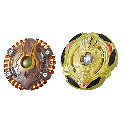 BEYBLADE Burst Turbo Slingshock Dual Pack Spiral Treptune T4, Lava-X Anubion A4, Multicolor: Toys & Games