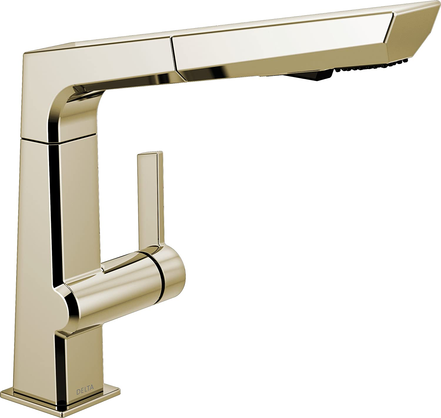 Arctic Stainless 4193-AR-DST Delta Faucet Pivotal Single-Handle Kitchen Sink Faucet with Pull Out Sprayer