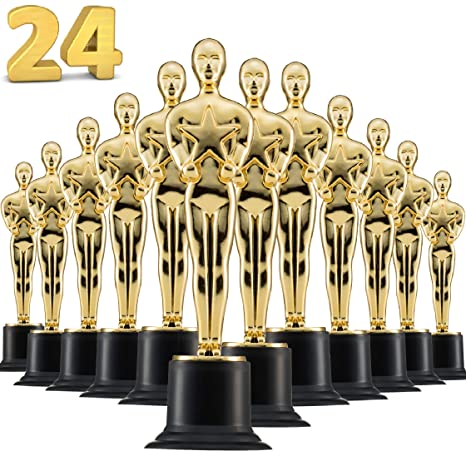 Amazon Com Prextex 6 Gold Award Trophys For Award Ceremony S Or
