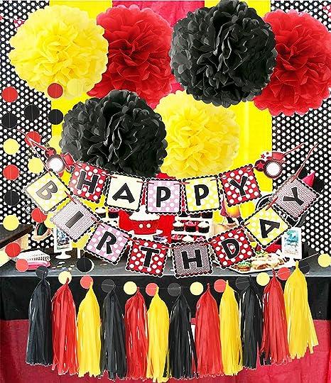 Accesorios para fiesta de cumpleaños, diseño de Mickey Mouse ...