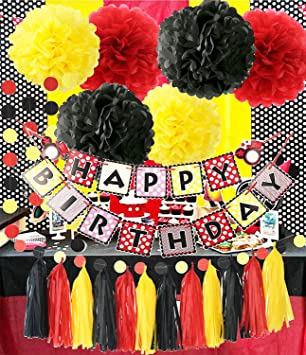 Amazoncom Mickey Mouse Theme Birthday Party Supplies Yellow Black