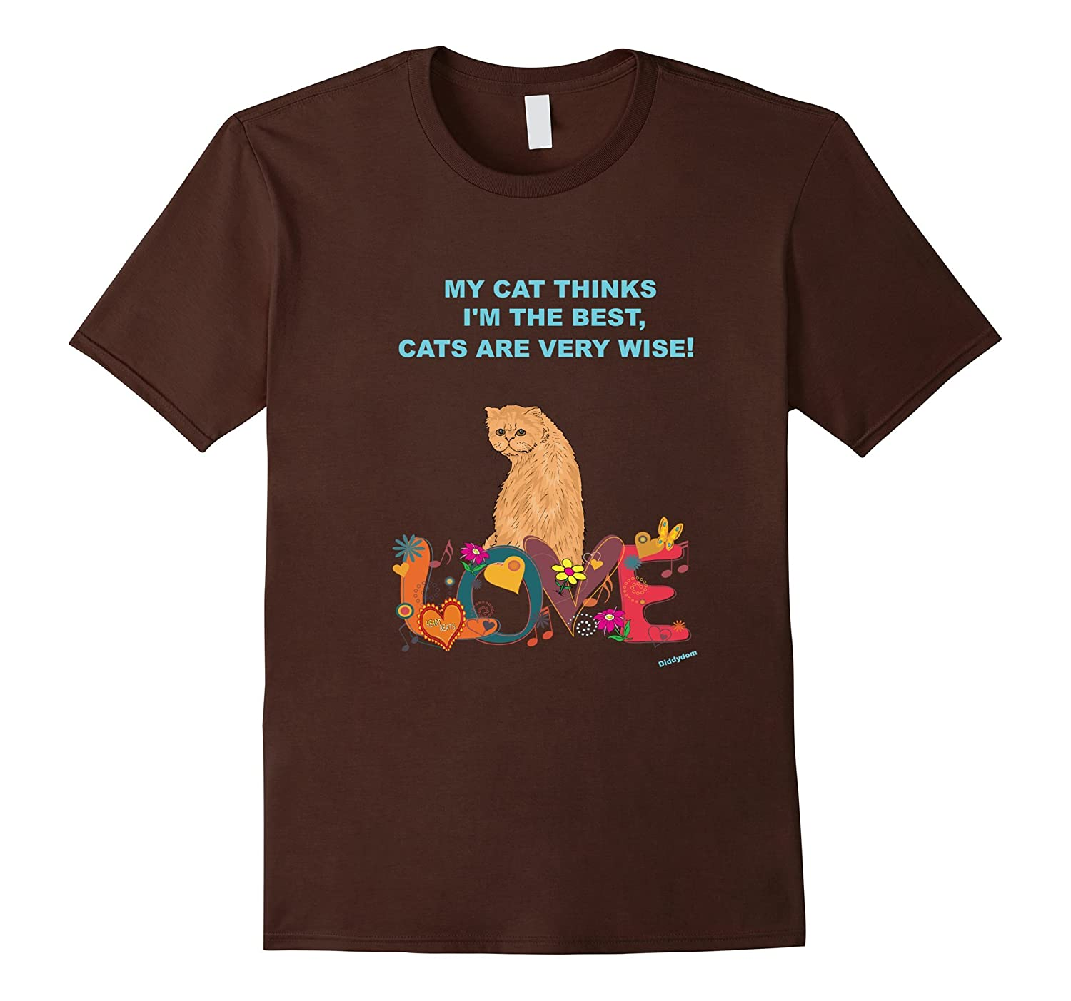 CATS ARE VERY WISE FUN FUNNY WOMEN YOUTH KIDS CAT T-SHIRT
