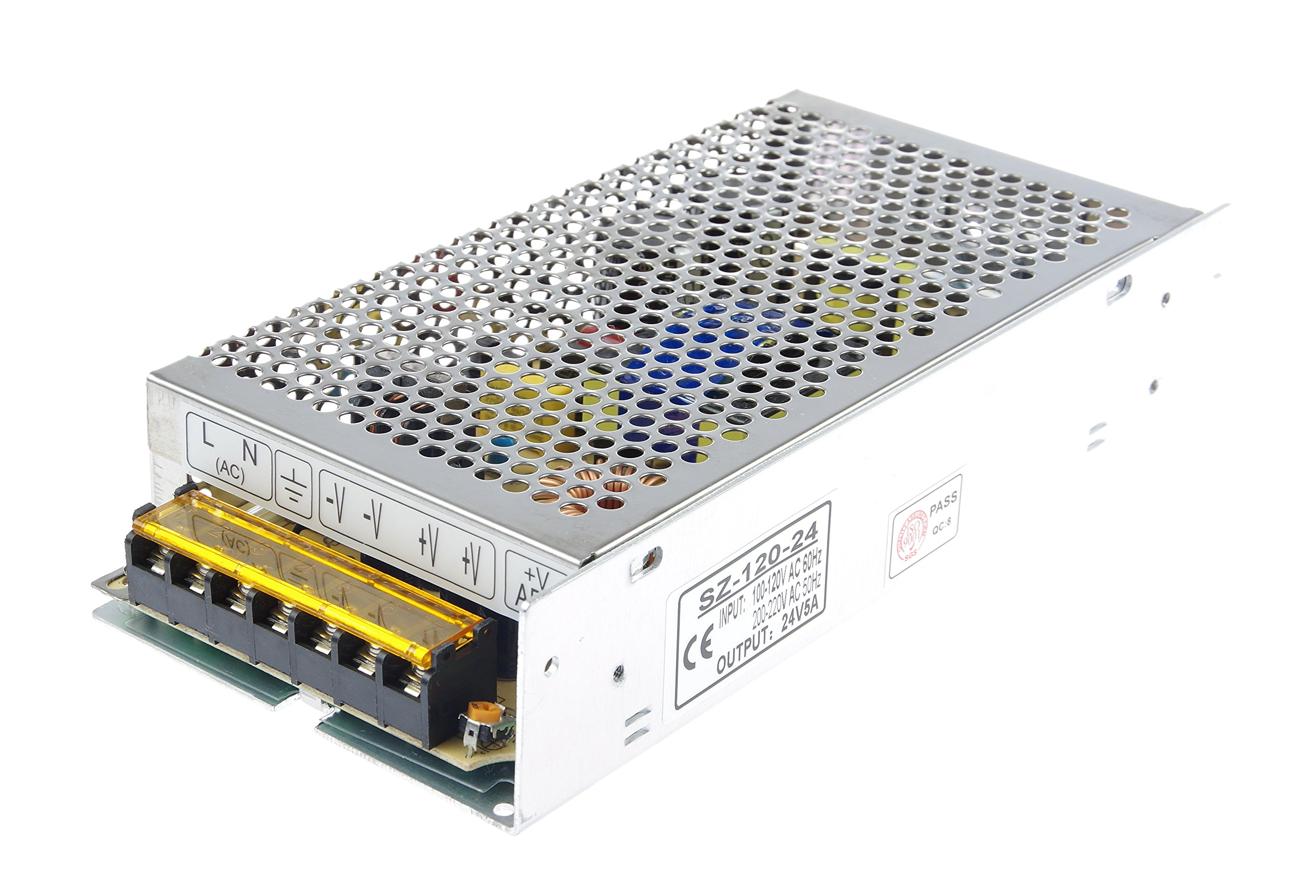 LM YN 110V/220V AC to DC 24V 5A 120W Switching Power Supply Driver,Power Transformer for CCTV camera, Security System, LED Strip Light, Radio, Computer Project by LM YN (Image #3)