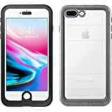 iPhone 8 Plus Case | Pelican Marine Waterproof Case - fits iPhone 8 Plus and 7 Plus (Clear/Black)