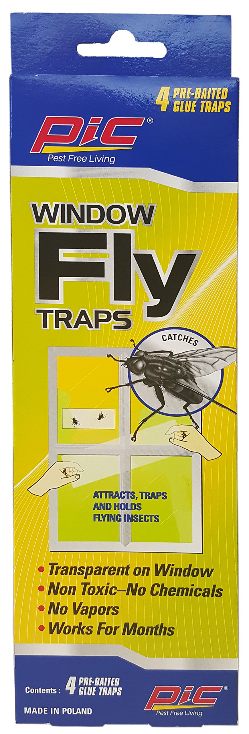 PIC Window Fly Traps (1 Pack)