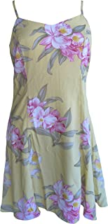 product image for Paradise Found Womens Orchid Corsage Princess Seam Mini Sundress in Yellow - L