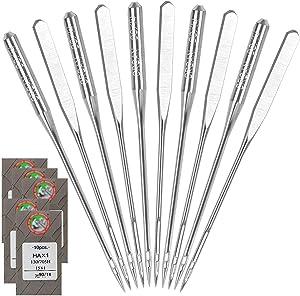 50PCS Home Sewing Machine Needles-Size 90/14 HAX1 Sewing Machine Needles for Brother Sewing Machine Embroidery Sewing Machine Needles