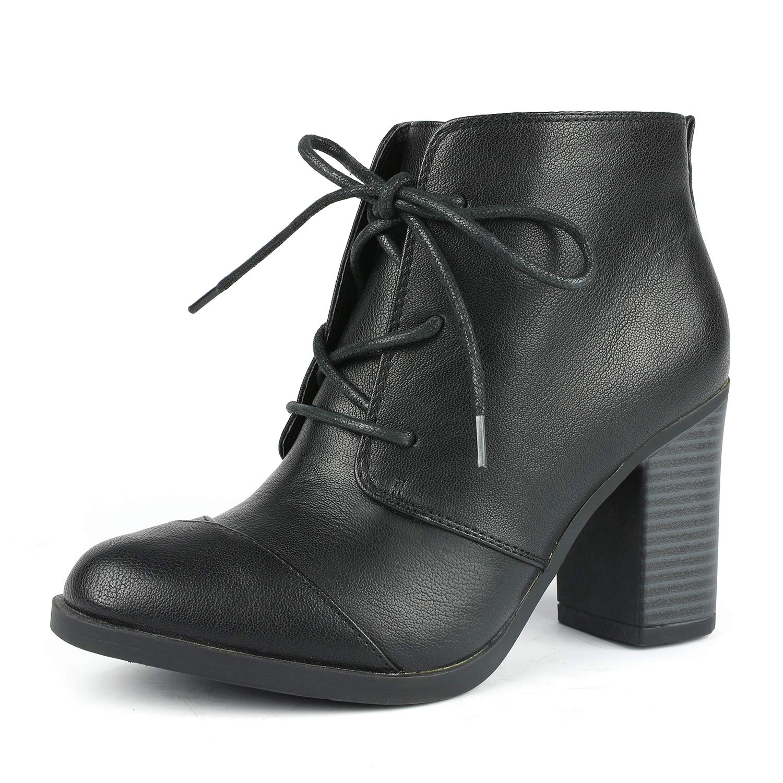 TOETOS Women's Chicago Chunky Heel Ankle Booties