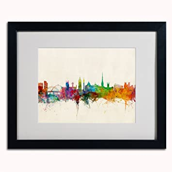 Amazon trademark fine art newcastle england skyline canvas art trademark fine art newcastle england skyline canvas art by michael tompsett 16 by 20 gumiabroncs Image collections