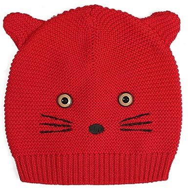 ZOEREA Bonnet Unisexe Tricot Chapeau Animaux bébé garçon chapeau bébé fille  Noël bonnet tricoté 9ca4ec1cec9
