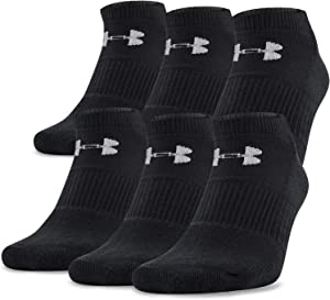Under Armour unisex-adult Charged Cotton 2.0 No Show Socks, 6-pairs