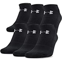 Under Armour Adult Charged Cotton 2.0 No Show Socks, 6-Pairs photo