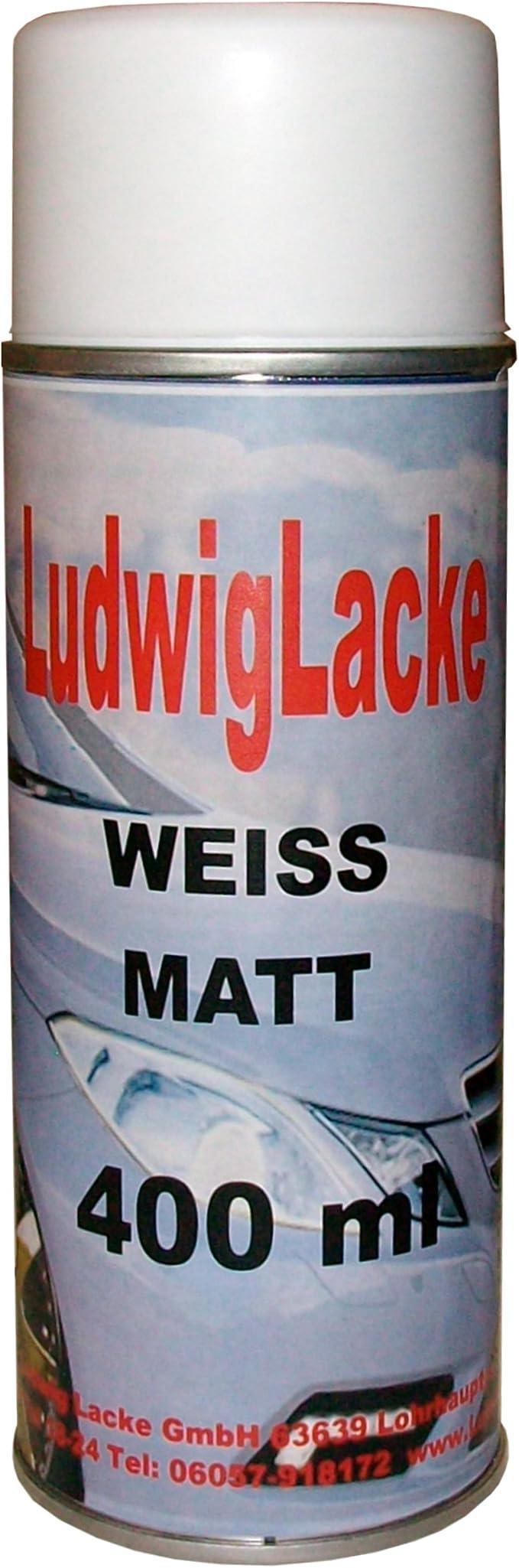 1 Lackspray Weiss Matt 400 Ml Je Spraydose Auto