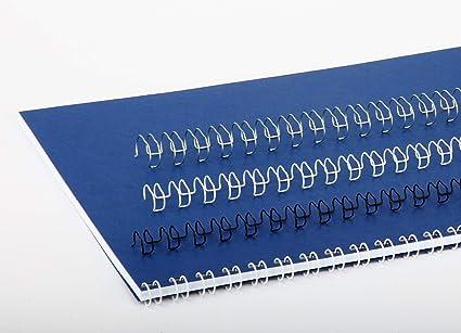 Ibiwire Bindings - Cable de encuadernación de 21 bucles (6 mm a 14 mm) 6mm / 100 Pack/Black: Amazon.es: Oficina y papelería