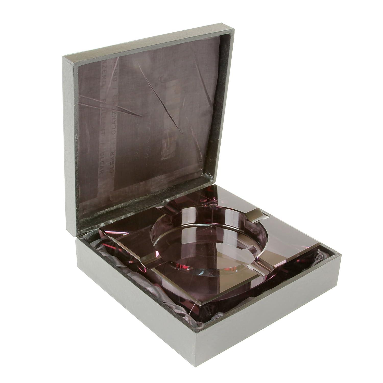 Black Quality Importers 4 Cigar Crystal Ashtray