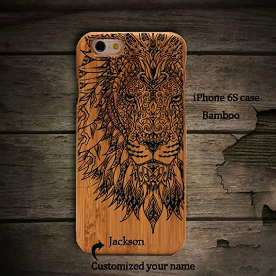half off 8db1b 6c527 Amazon.com: Anlye Lion iPhone 7 Wooden Case,Personalized Iphone 7 ...