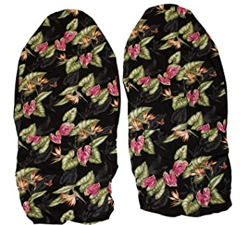 Hawaiian Car Seat Covers >> Hawaiian Car Seat Covers Black Bird Of Paradise Set Of 2 Front Bucket Seat Covers Made In Hawaii Usa