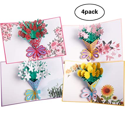 Amazon Flower Pop Up Cards