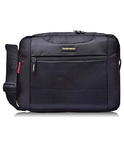 Adamson Unisex Front Webbing Black Sling Bag(ASB-065)