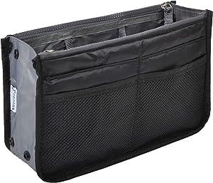 Vercord Purse Organizer Insert for Handbags Bag Organizers Inside Tote Pocketbook Women Nurse Nylon 13 Pockets Black Large