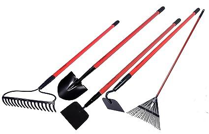 Exceptional GardenAll Garden Tools Set   Include Round Point Garden Shovel/12 Guage  Garden Hoe/
