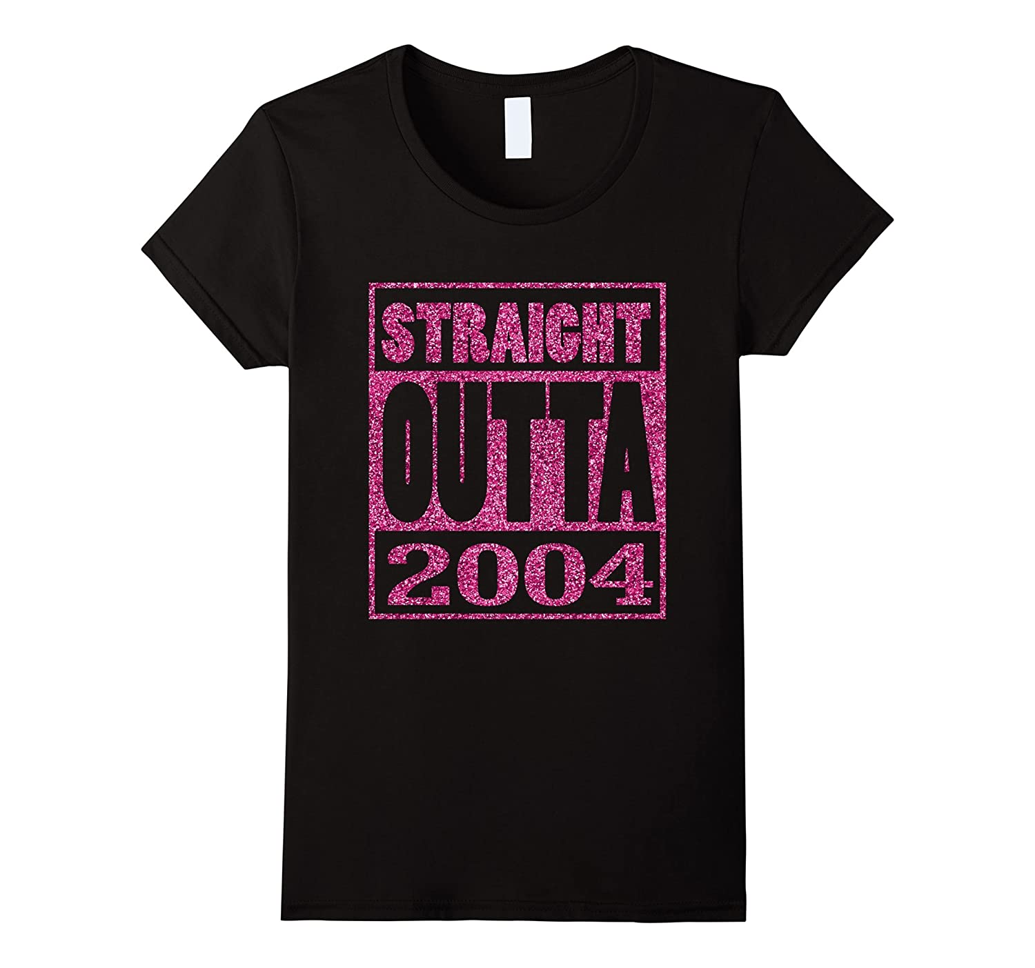 13th Birthday Girl Gift Pink Straight Outta 2004 T-Shirt-TH