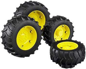 Bruder 2012 - Juego de ruedas para tractor, color amarillo: Amazon.es: Juguetes y juegos