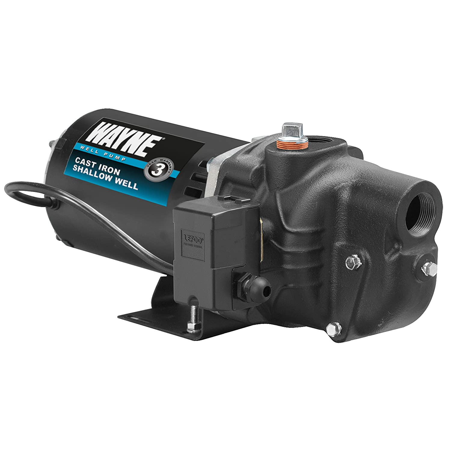 WAYNE SWS100 1 HP Cast Iron Shallow Well Jet Pump for Wells up to 25 ft.