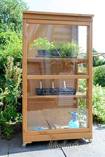 Holz Fruhbeet Mini Gewachshaus Druck Behandelt Holz Grow Kleingarten