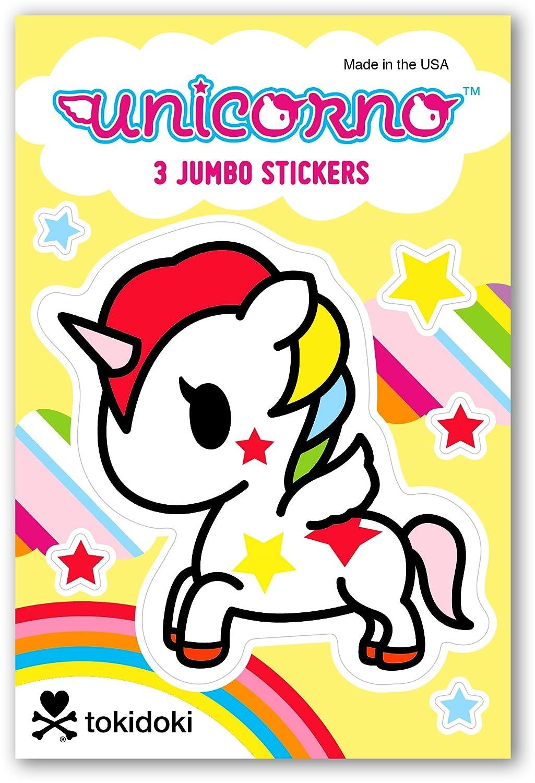 3 Sheets Each Donutella 9 Sheets Total Mermicorno Re-Marks Tokidoki Jumbo Sticker Unicorno 3 Pack