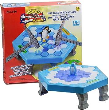 AMMBER rompecabezas Mini mesa juegos juguetes, escritorio Knock hielo pingüino trampa equilibrio hielo cubitos Ahorre el Pingüino Ice-breaker juego, Niños Temprano Educativa Interactiva Juguetes (ABS, A): Amazon.es: Juguetes y juegos